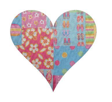 Heart pin board - 'beach girl'