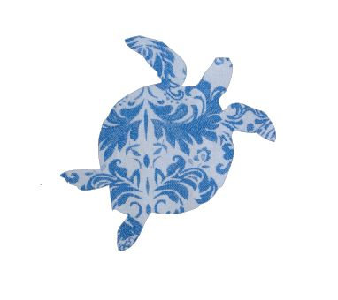 Turtle pin board - 'china blue'