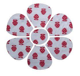 Flower pin board - 'strawberry'