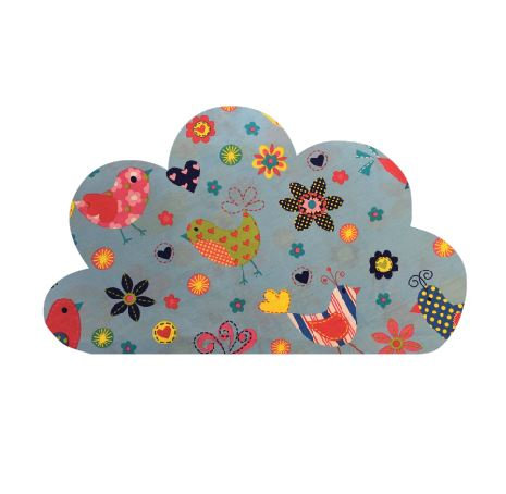 Cloud pin board - 'happy place'