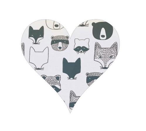 Heart pin board - 'critters'
