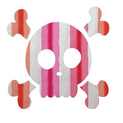 Skull & Crossbones pin board - 'pop stripe'