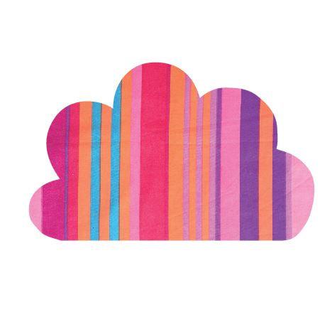 Cloud pin board - 'candy cane'