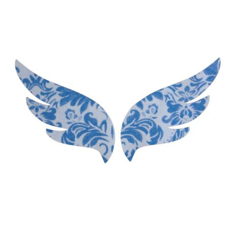Pair of wings pin board 'blue china'