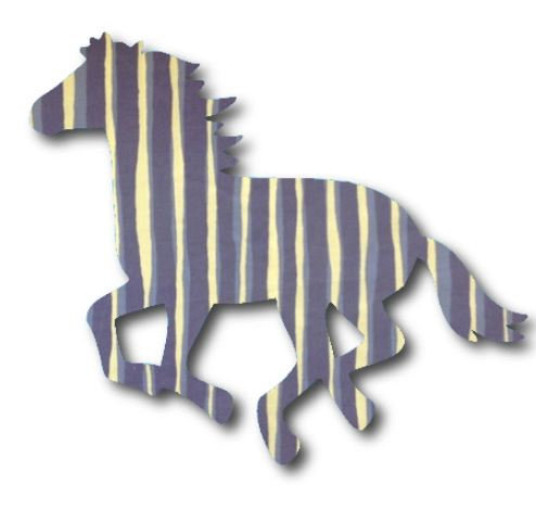 Unicorn or horse pin board - 'blue poles'