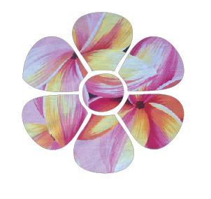 Flower pin board - 'franjipani'