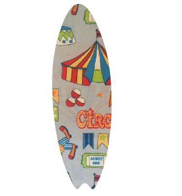 Surfboard pin board - 'circus'