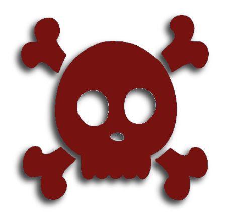 Skull & Crossbones pin board - 'burgundy'