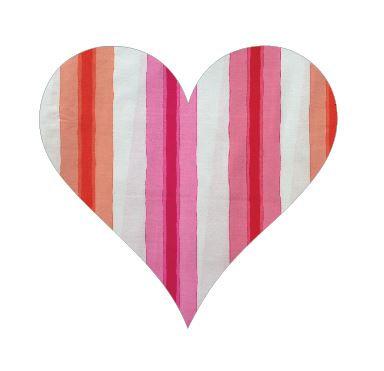 Heart pin board - 'pop stripe'
