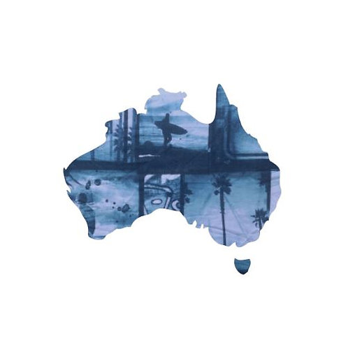 Australia Map pin board  - 'surfilm'