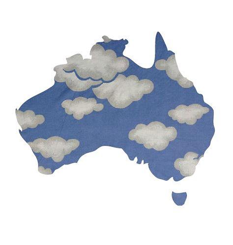 Australia Map pin board  - 'blue yonder'