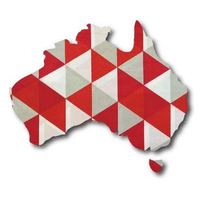 Australia Map pin board  - 'tri'