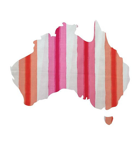 Australia Map pin board  - 'pop stripe'