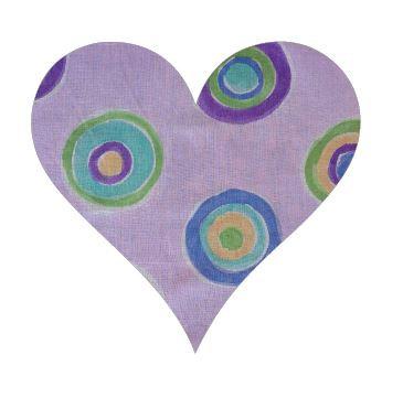 Heart pin board - 'lilac b'