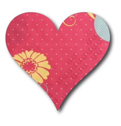 Heart pin board - 'flourish'