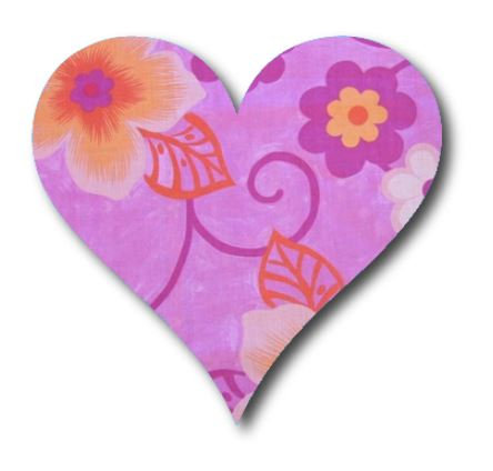 Heart pin board - 'wild flowers'