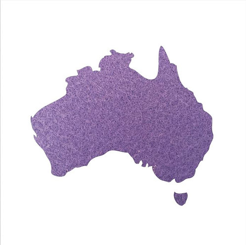 Australia Map pin board  - 'mauve'