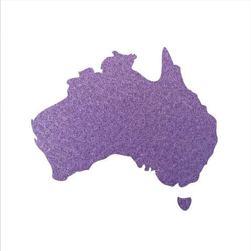 Australia Map pin board  - 'mauve'