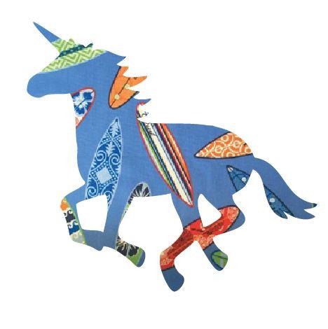 Unicorn or horse pin board - 'surferini sky'
