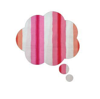 Thought bubble -'pop stripe'