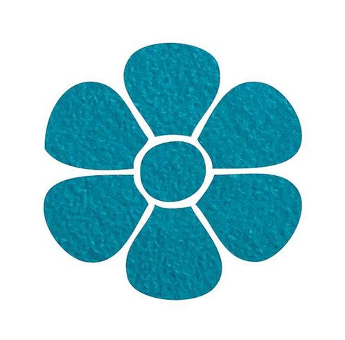Flower pin board - 'teal'