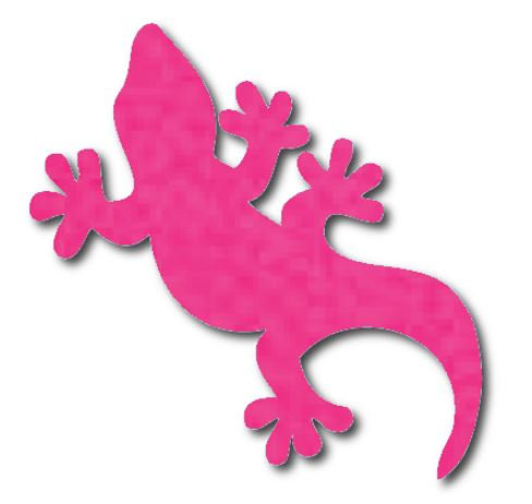 Gecko pin board - 'hot pink'