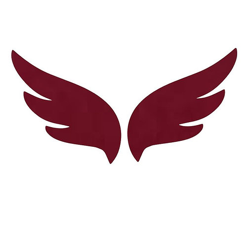 Pair of wings pin board 'burgundy'