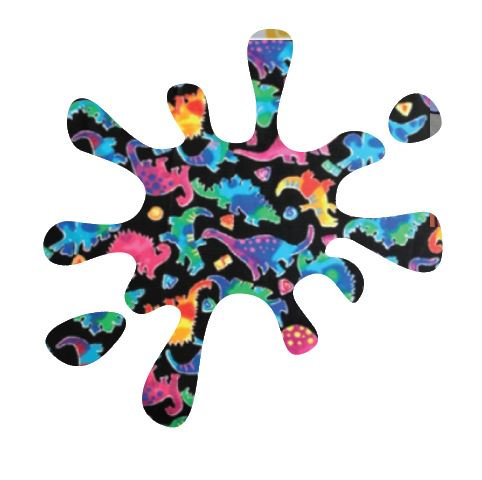 Splat pin board - 'disco dino'