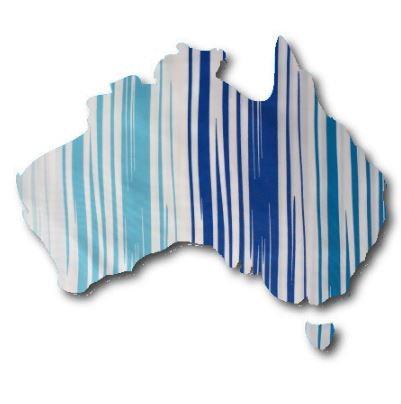 Australia Map pin board  - 'blue streak'