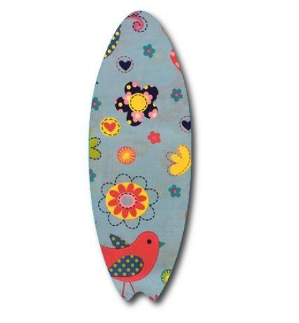 Surfboard pin board - 'happy place'