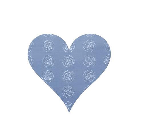 Heart pin board - 'flake'