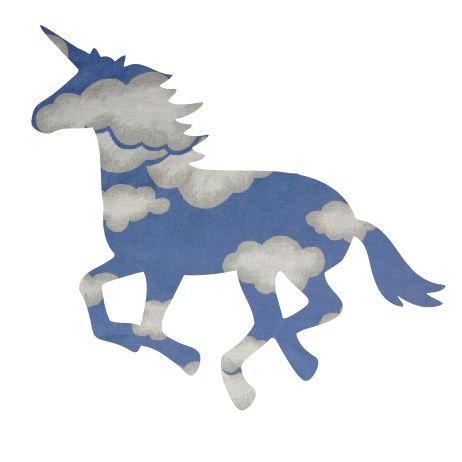 Unicorn or horse pin board - 'blue yonder'