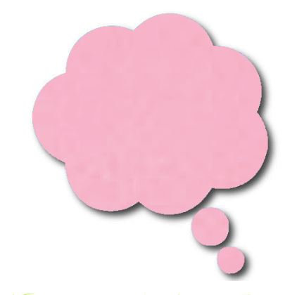 Thought bubble -'pale pink'