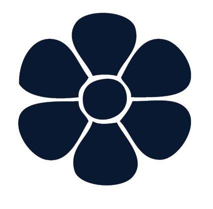 Flower pin board - 'navy'