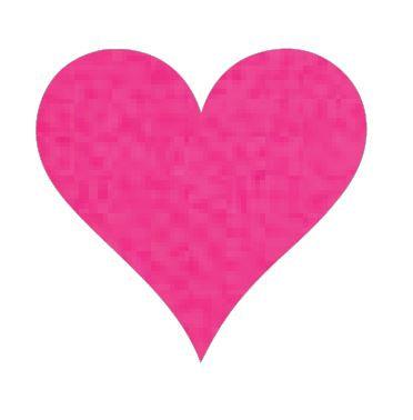 Heart pin board - 'hot pink'