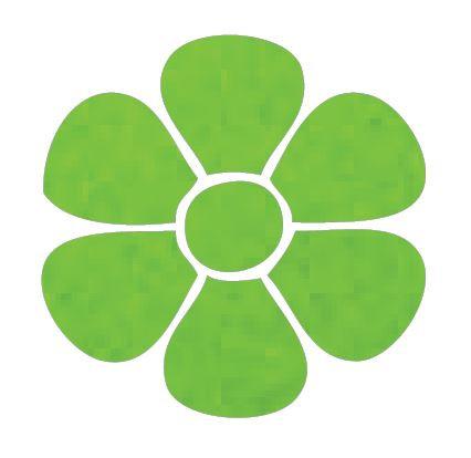 Flower pin board - 'lime'