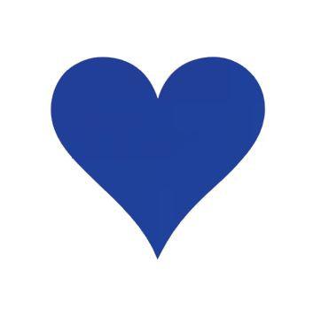 Heart pin board - 'royal blue'