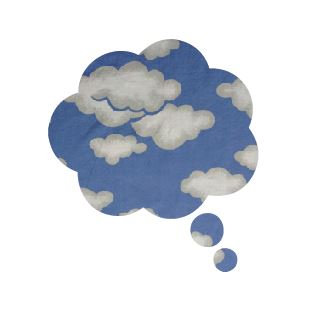 Thought bubble -'blue yonder'