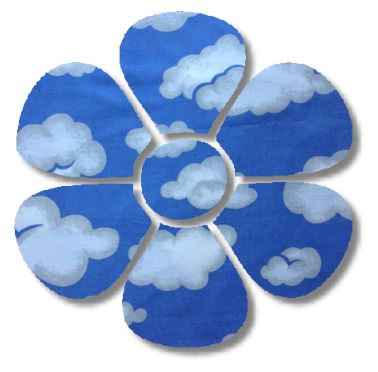 Flower pin board - 'blue yonder'