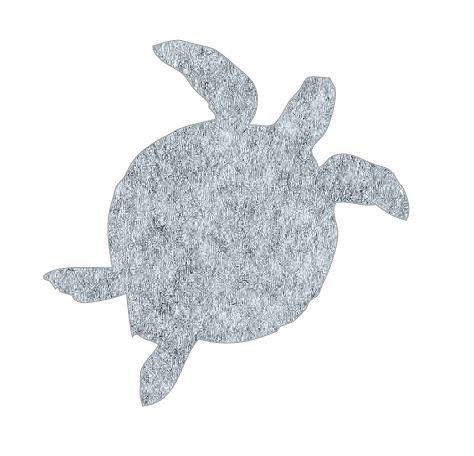 Turtle pin board - 'grey fuzz'