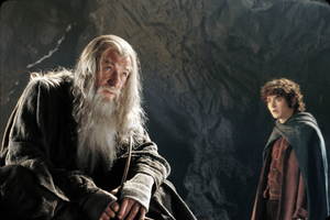 the art to writing subliminal messages - Gandalf to Frodo in Moria