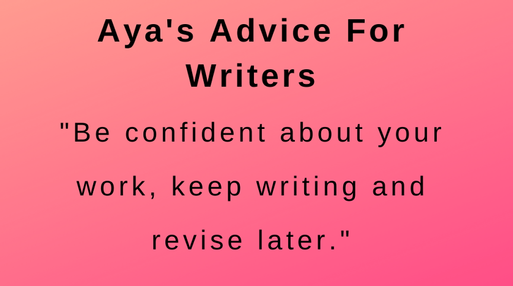 interview with author aya khalil - advice