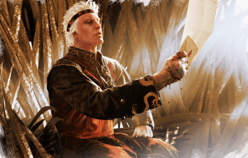 Aegon receiving a letter in which he realises that he faces a threat more terrifying than dragons.