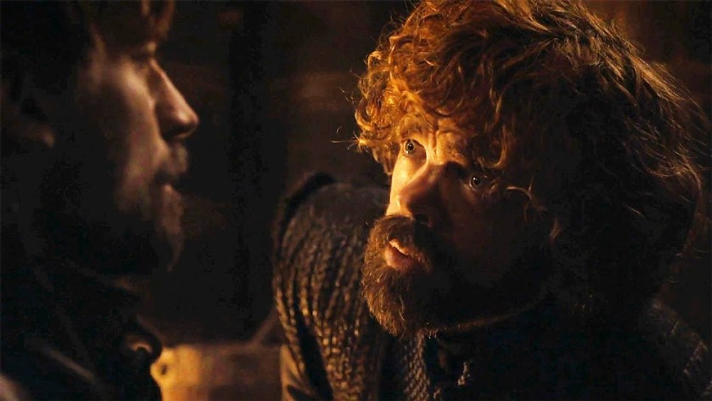 """Jaime asks Tyrion: """"What Better Way To Show Your Loyalty Than By Approving My Execution?"""", whilst being his captive."""