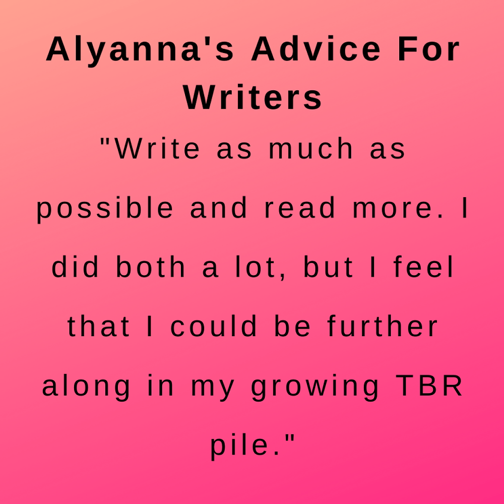 interview with author alyanna poe - her advice for writers.