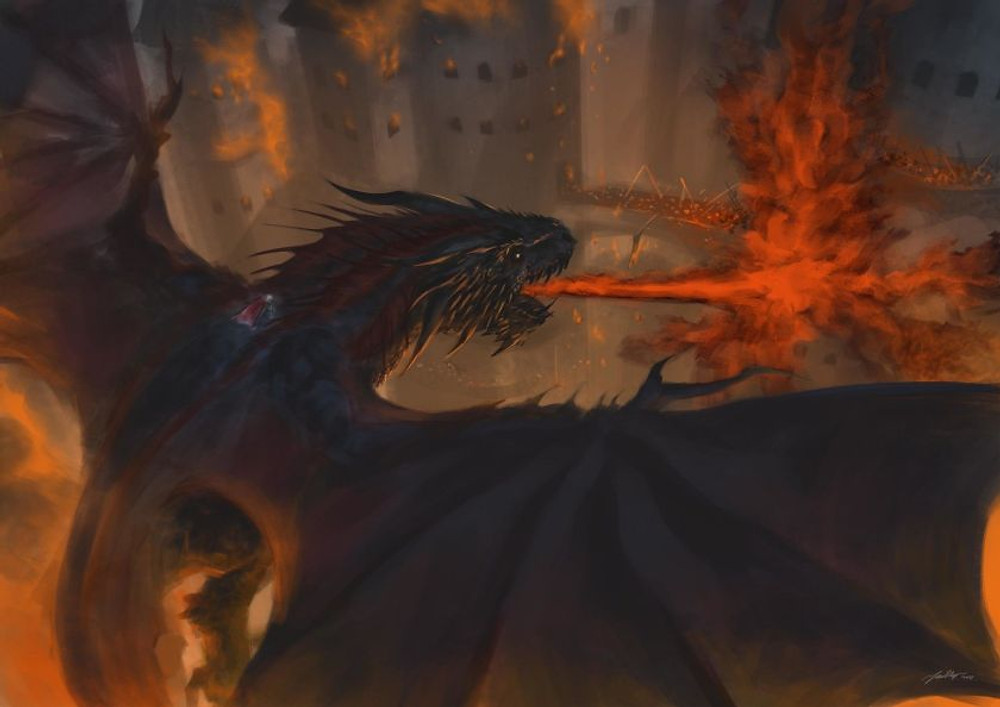 """""""You do not realise what you have done"""" - Vhagar turning a town to fire and ash."""