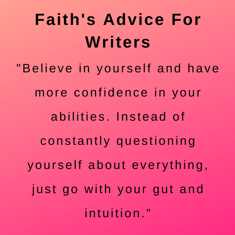 interview with author faith goldstein - advice for writers
