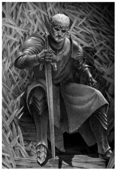 "Ser Borys asks: ""Are you afraid of a dragon, brother?"" because Lord Rogar has good reason to be afraid of Maegor's dragon."