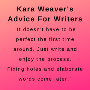 Interview with author kara s weaver - advice for writers.