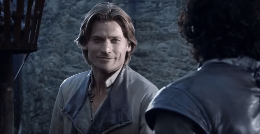 the art to subliminal messaging - Jaime Lannister giving Jon Snow a cryptic message